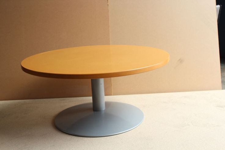 Office Round Stem Meeting Table Office Computer Home Study Furniture Table