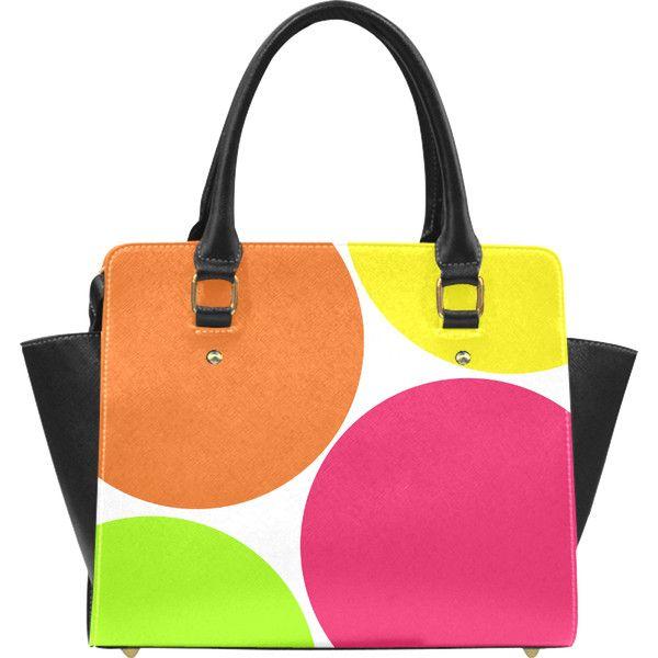 Big Colorful Circles Classic Shoulder Handbag (Model 1653) ($44) ❤ liked on Polyvore featuring bags, handbags, shoulder bags, circle, multicolor, pocket book, polka dot, shoulder hand bags, purse shoulder bag and handbag purse