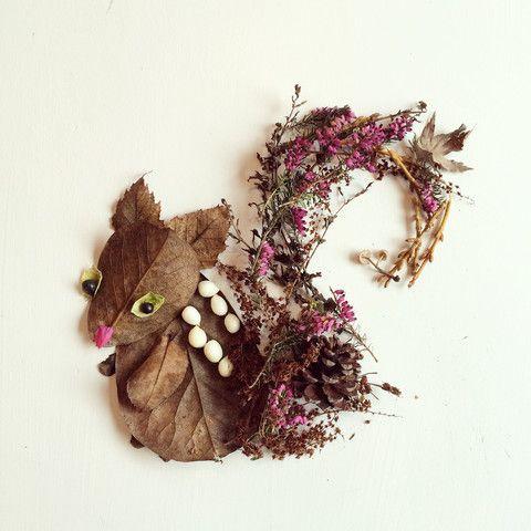 Squirrel - Flora Forager - Bridget Beth Collins - http://floraforager.com