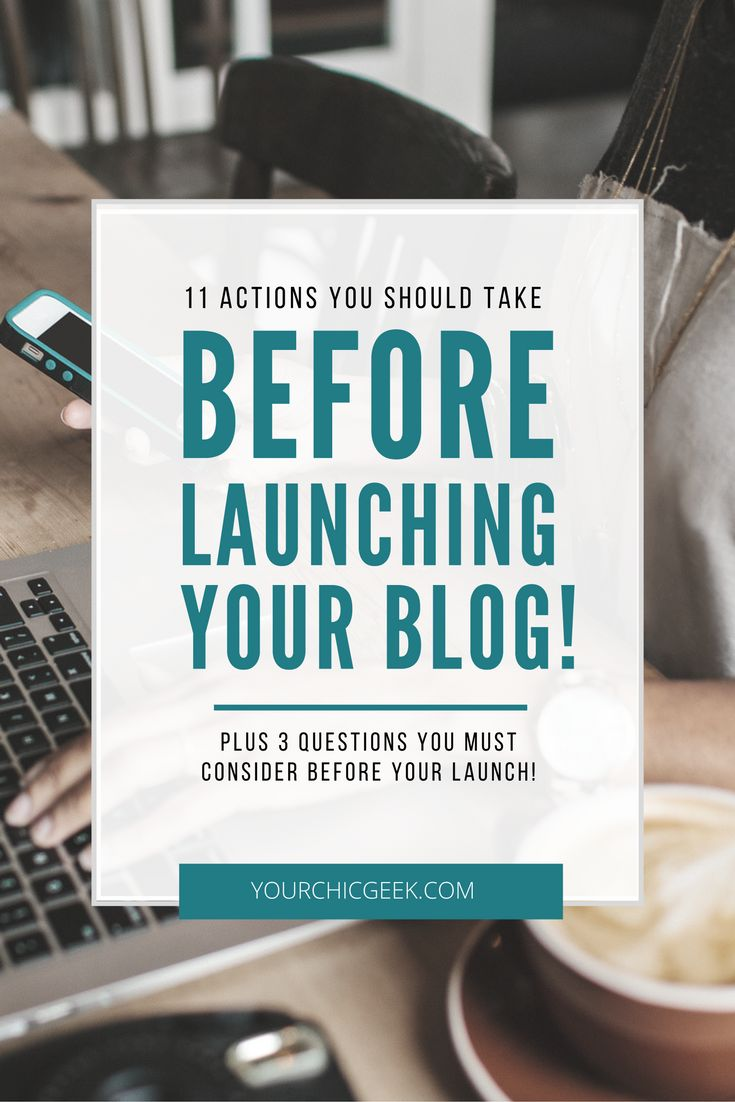 Theres a lot of excitement that can go into launching a blog. Prior to your launch, here is a checklist and list of actions to take before launching a blog.
