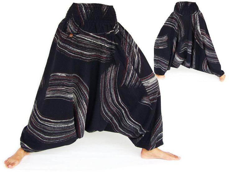 Pantaloni cavallo basso - Pantaloni Hmong, Pantaloni Aladdin - un prodotto unico di Siamrose su DaWanda