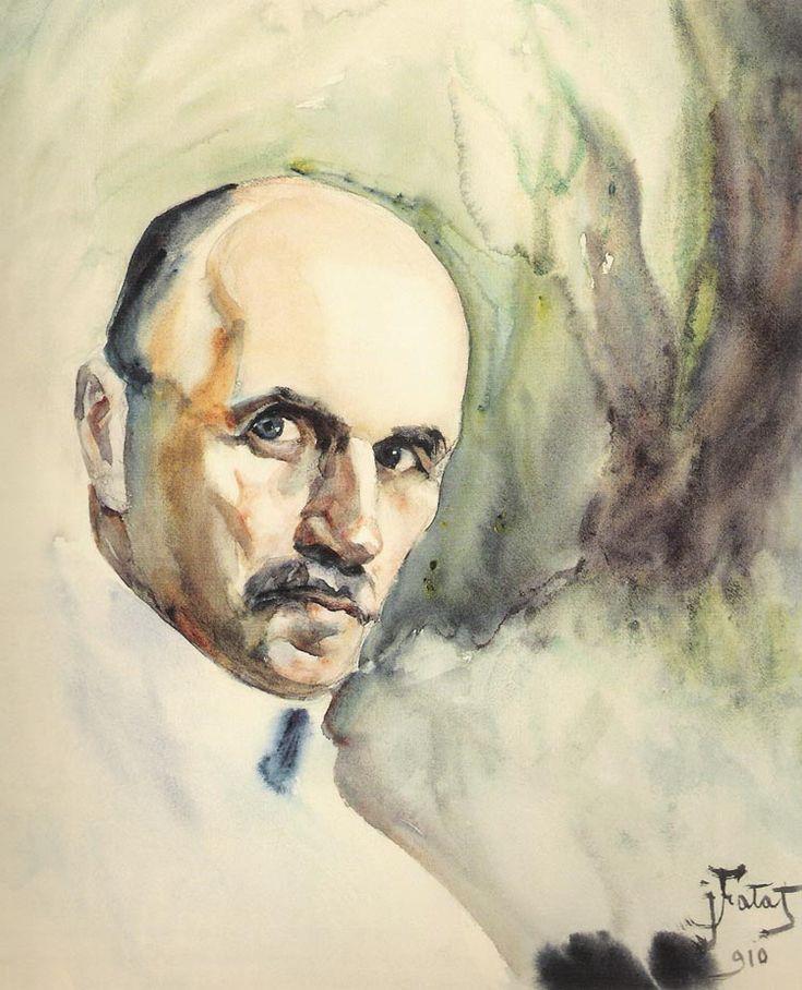"Julian Falat  ""Self-Portrait"", 1910, watercolour, 31.5 x 26 cm, Bielsko-Biala Museum"