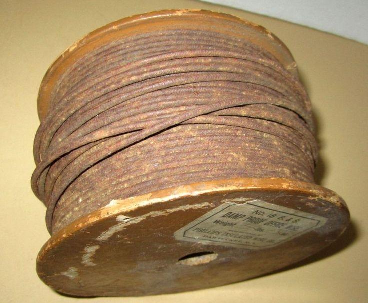 "Copper Wire Single Strand Insulated Phillips Wire ""Damp Proof Office Wire"" VTG #PhilipsInsulatedWireCo"