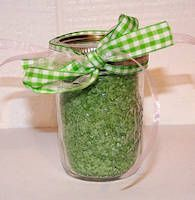 Colored bath salts are a very unique Christmas gift