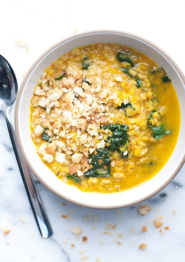 Turmeric Lentil + Farro Soup