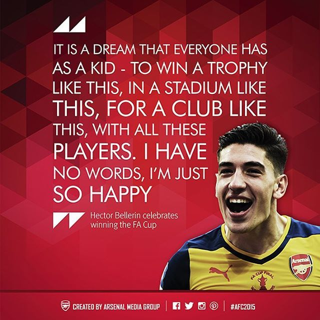 Arsenal Quotes Of 2015 Hector Bellerin On Winning The FA Cup
