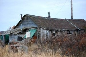 remains of Wyatt Earp's cabin, in the backroads of Nome