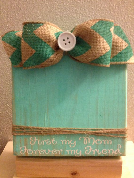 Distressed Painted Wood Block Frame with Twine by DefinitelyDenise