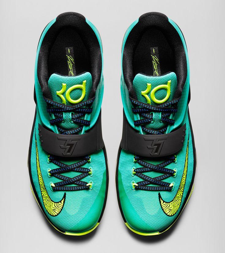 High Quality Nike KD 7 Cheap sale Teal Black Volt Hyper Pink