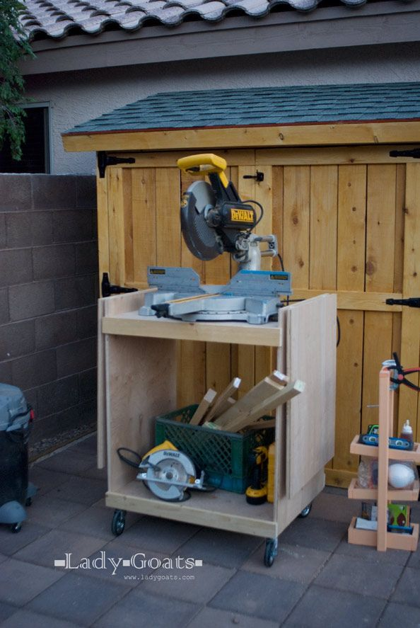 Ana White Build A Miter Saw Cart Free And Easy Diy