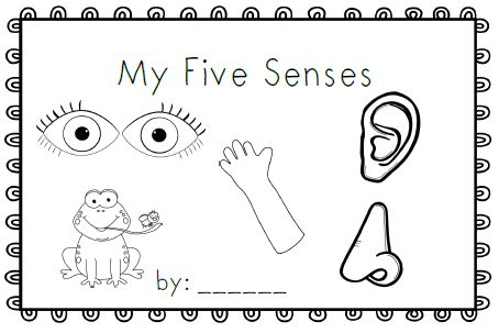 My Five Senses~ emergent reader