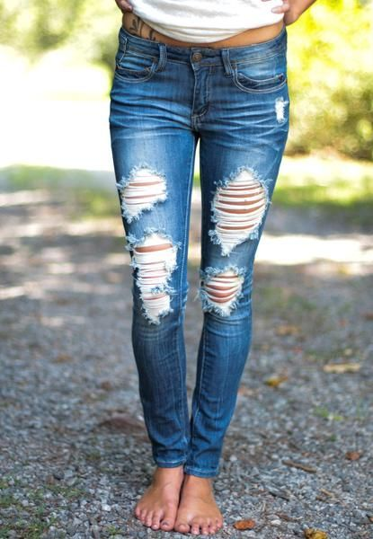 These skinny machine jeans are perfect for every outfit for Fall. They have the right amount of stretch making them so comfortable they will quickly become your favorite jeans!