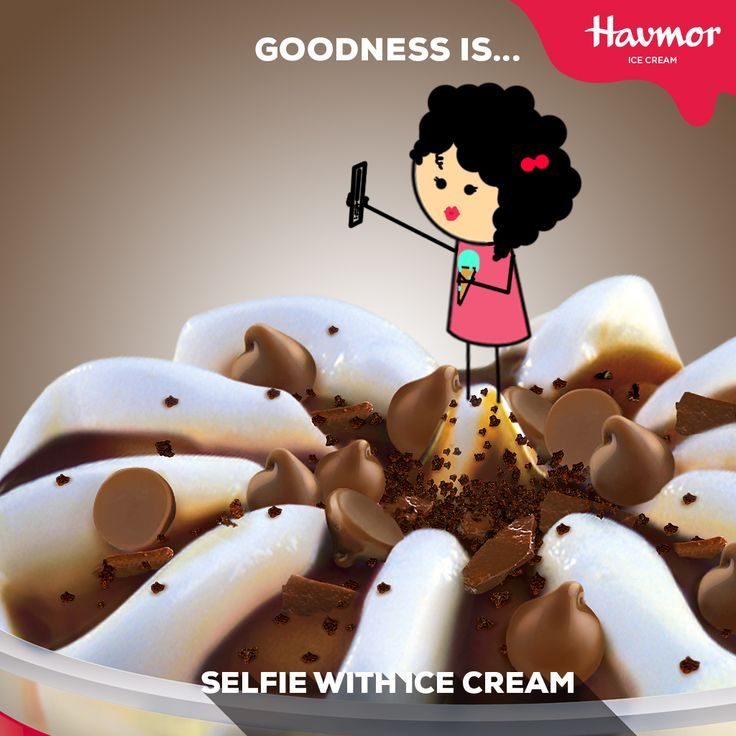 #GoodnessIs getting your selfie right, before the ice cream melts