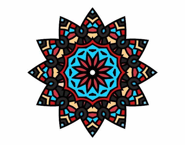 Mandala étoile florale
