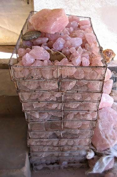 Rough rose quartz is very affordable and can be found in large quantities
