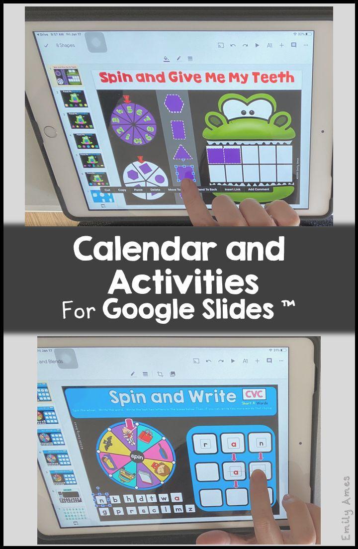 Digital Calendar With Math And Ela Activities For Google Slides