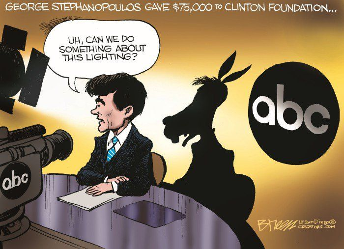 This Cartoon About George Stephanopoulos Pretty Much Says It All