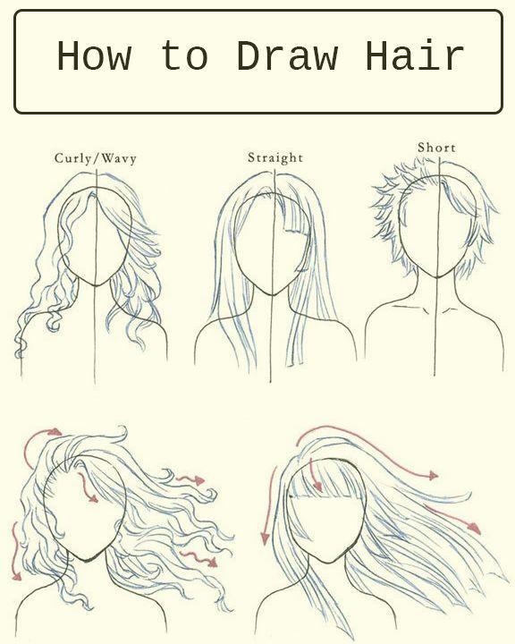 Ms de 25 ideas increbles sobre Dibujos de cabello de mujer en