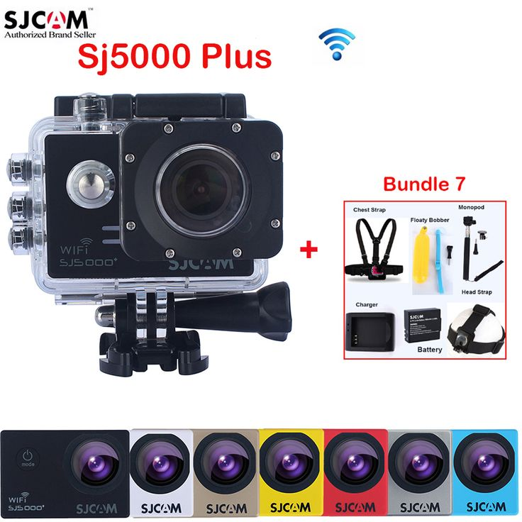 Original SJCAM SJ5000 Plus WiFi Diving 30M Waterproof Sports Action Mini Camera Sj 5000 plus Cam DVR With Various Accessories