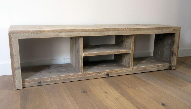 TV meubel 'Divided' | Steigerhout | Te koop bij w00tdesign | by w00tdesign | Meubels van steigerhout