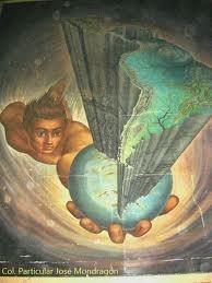 Mural en el interior del cine latino m xico df m xico for El mural pelicula