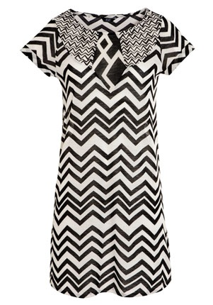 Ikat Printed Skater Dress - £16