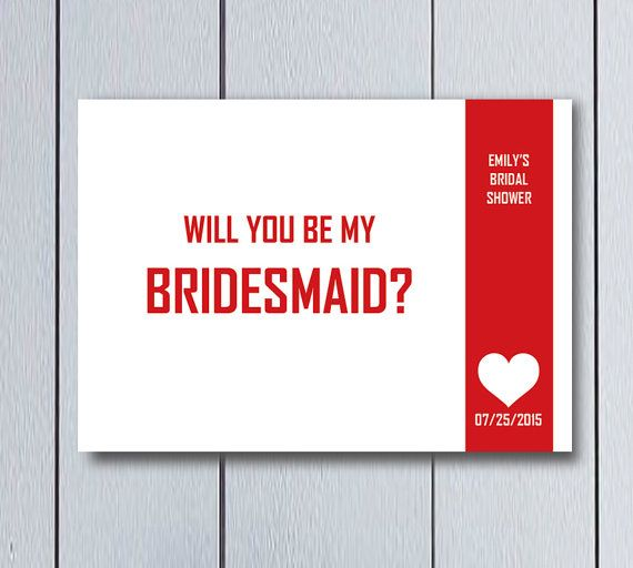 Tarjeta de Dama de Honor y Madrina, ideal para fiesta de antes de la boda. Carta digital, listo para imprimir. Es un producto personalizable por favor