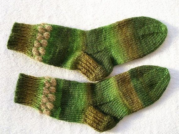 Socks for women.  Size 10. Wool and acrylic by MarikaHandKnits, $42.00