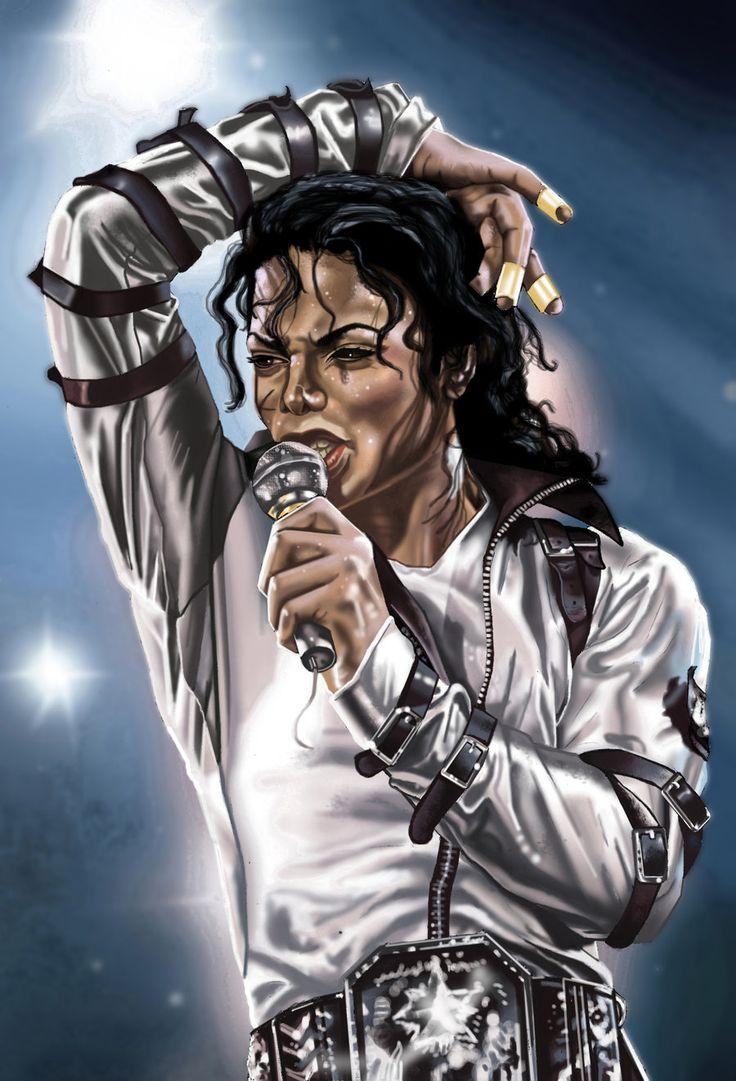 Michael Jackson dibujo de bad en concierto
