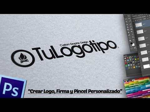 Crear Logo, Firma y Pincel Personalizado en Photoshop. - YouTube