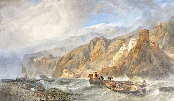 Amalfi, Birthplace of the Mariner's Compass c.1848  by  Clarkson Frederick Stanfield (British 1793–1867)