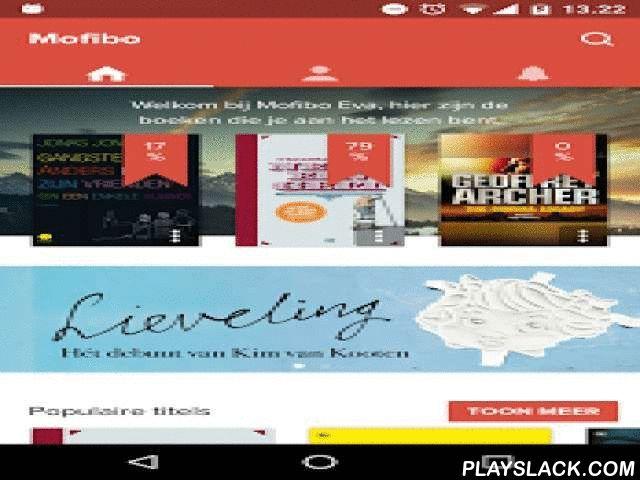 Mofibo - Books Unlimited  Android App - playslack.com ,  Lees en luister naar zoveel boeken als je maar wilt op je smartphone en tablet – waar en wanneer je wilt, en tegen een vast bedrag per maand. Wat Spotify doet voor muziek en Netflix voor films, doet Mofibo voor boeken. Haal onze gratis app die hoort bij je Mofibo-abonnement en je kunt meteen aan de slag met lezen. Heb je nog geen abonnement op Mofibo, dan kun je je aanmelden op mofibo.com en starten met een gratis proefperiode.Wat is…