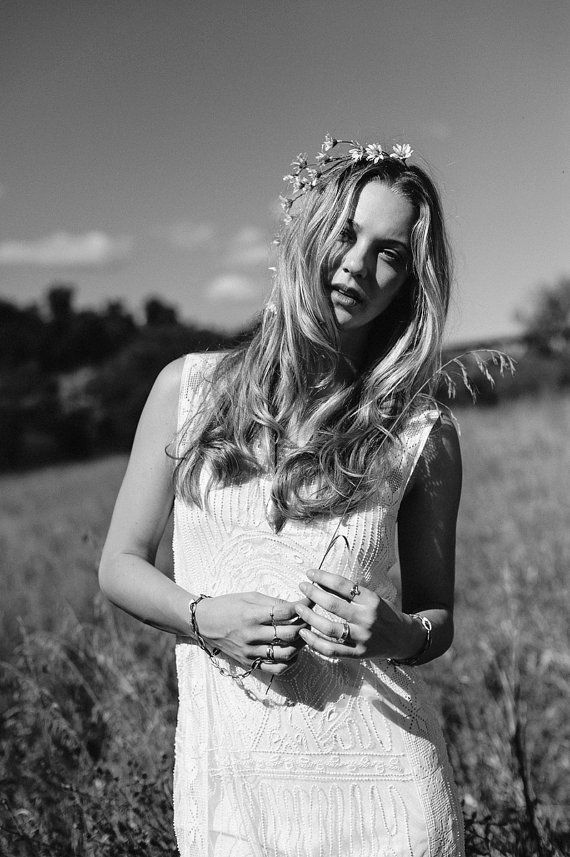 We Are the Cosmos  Flower Crown  Floral Headband  by katieburley, $80.00