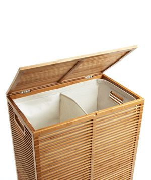Zen Bamboo Laundry Hamper - Beautiful and functional, it features a divided, handled lining for easy sorting and transport. To buy: $99, containerstore.com.
