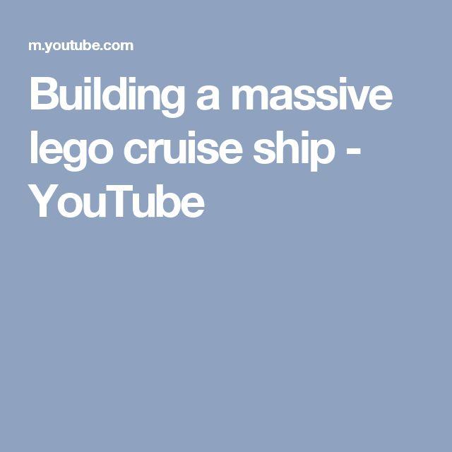 Building a massive lego cruise ship - YouTube