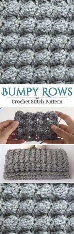 Bumpy Rows Crochet Stitch Pattern