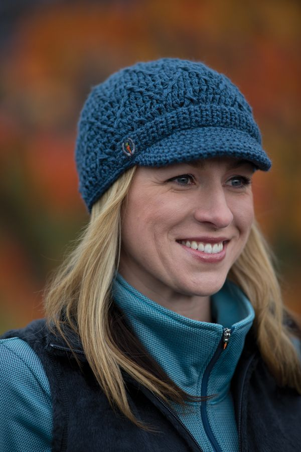 Kerrits Winter Knit Hat in Lagoon - The perfect topper to fend off the cold  and helmet hair! A short bill 972f7629f2a