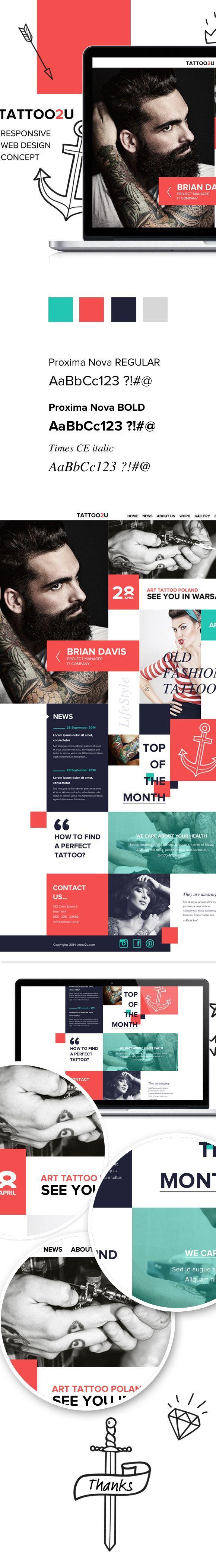 Tattoo2U.  #webdesign #it #web #design #layout #userinterface #website #webdesign