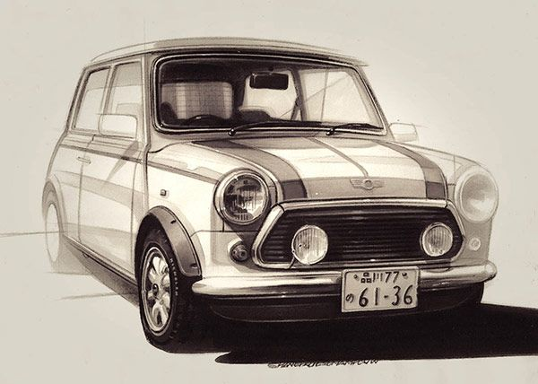 2014-02-03 | Austin Mini Sketch of the day