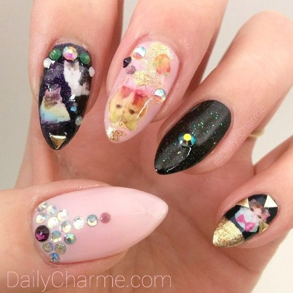 Nail Art Decoration - Mister Rainbow Cat & Friends