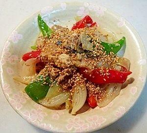 美味しい!鯖水煮缶と野菜の味噌炒め