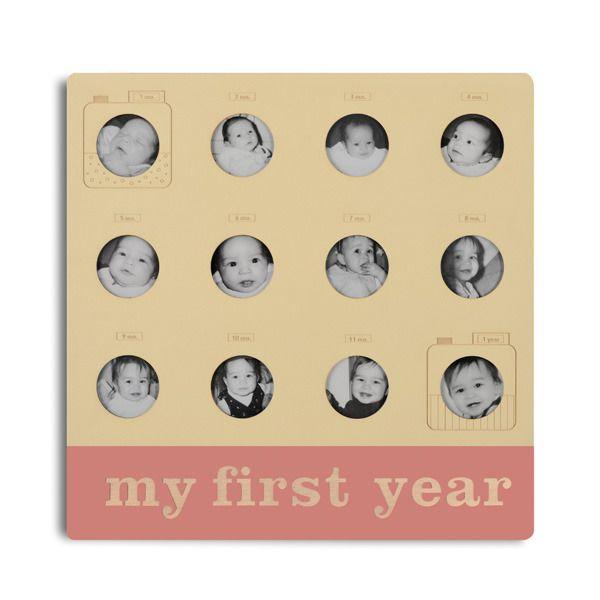 Мой первый год 12 месяцев ребенок рамка с милой камеры мотив: Великий на память подарок ребенку из дерева от Керри Ли