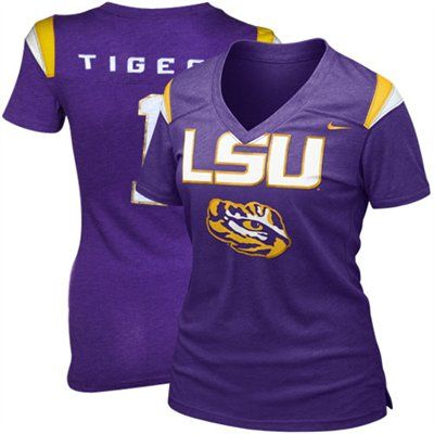 Nike LSU Tigers Ladies Football Replica T-shirt - Purple