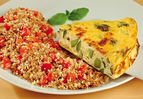 ALDI - Courgette Frittata with Red Pepper Couscous