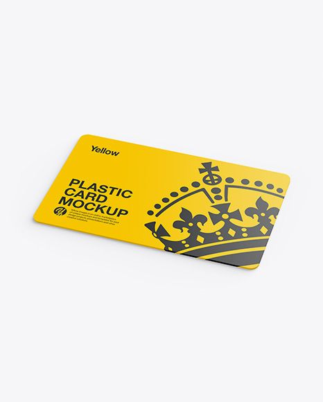 Plastic Card Mockup. Present your design on this mockup. Includes special layers…