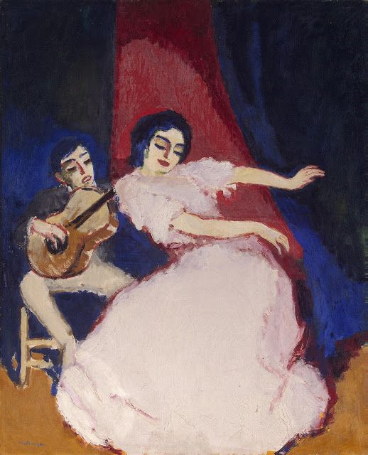 Antonia la Coquinera by Kees van Dongen - Oil on canvas   State Museum of New Western Art, Moscow, 1948... #oil_on_canvas #hermitage_painting # painting