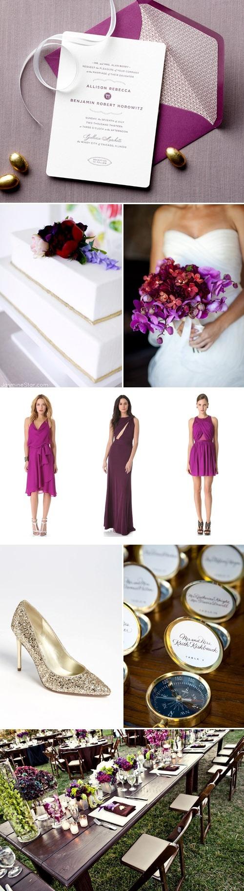 60 best Theme: Radiant Orchid Wedding images on Pinterest   Wedding ...