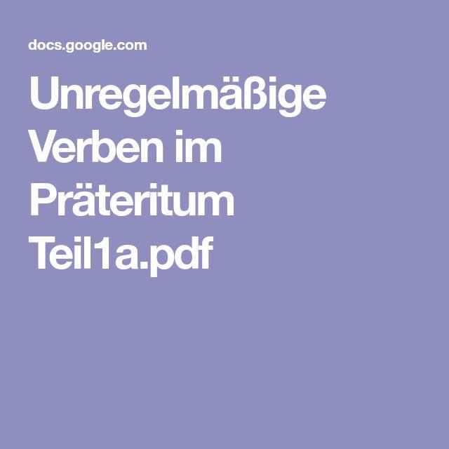 Unregelmäßige Verben Spanisch Pdf : unregelm ige verben im pr teritum verben im ~ Watch28wear.com Haus und Dekorationen
