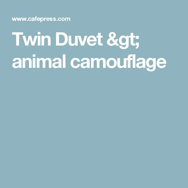 Twin Duvet > animal camouflage
