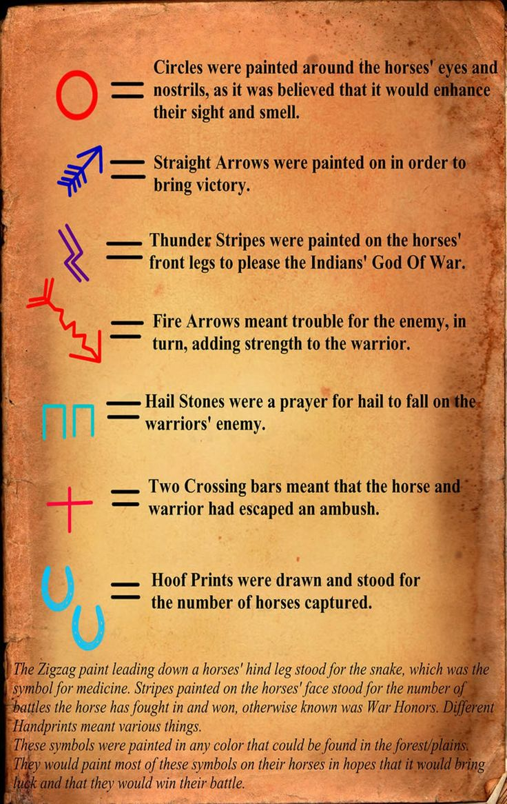 Native horse war paint legend. Good to know for my next tattoo
